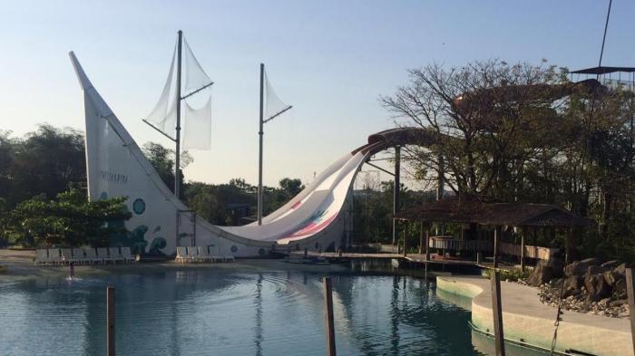 Phinisi Slide Segera Hadir Bugis Waterpark Tribun Timur Water Park