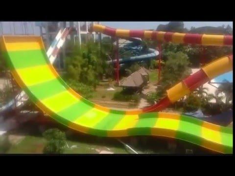 Waterboom Gowa Discovery Park Makassar Tes Boomerang 2 Youtube Kota