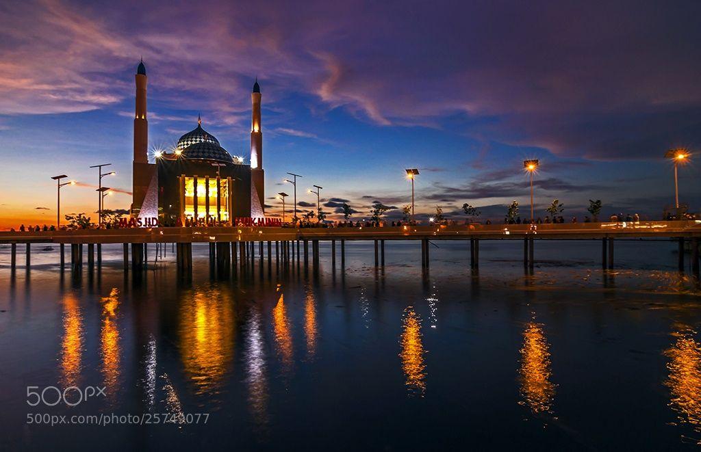 Amirul Mukminin Floating Mosque Makassar Indonesia Perfect View Masjid Kota
