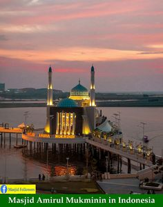 Amirul Mukminin Floating Mosque Makassar Indonesia Perfect View Masjid Makasar