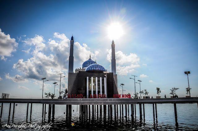 Masjid Amirul Mukminin Anjungan Pantai Losari Makassar Indonesia Kota