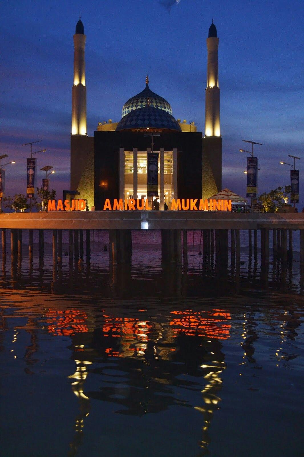Masjid Amirul Mukminin Floating Mosque Makassar Masjids Kota