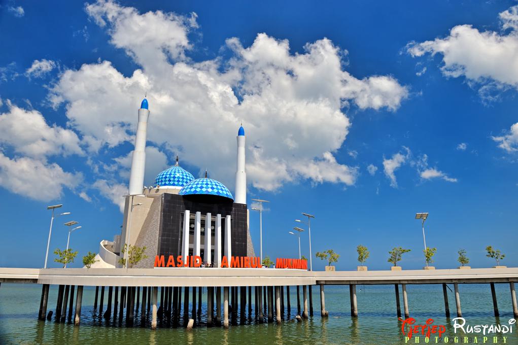 Masjid Amirul Mukminin Indonesia View Makassar South Sulawesi Kota