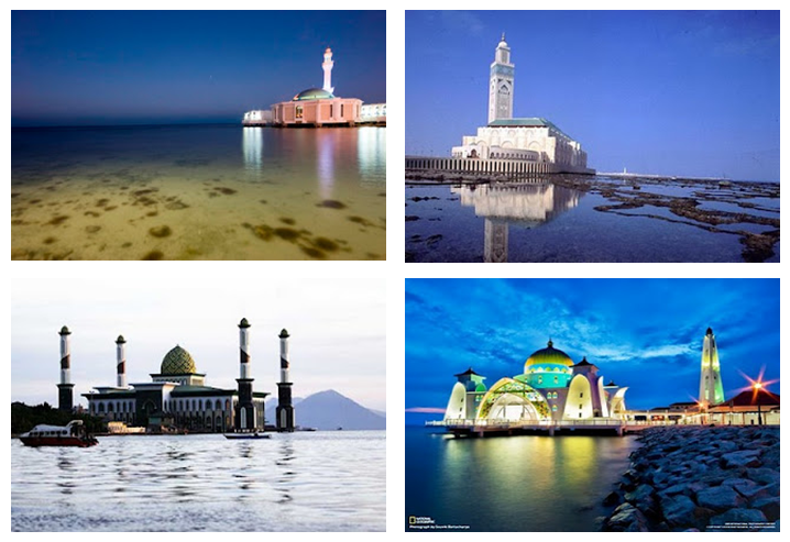 Sulawesi Floating Masjid Amirul Mukminin Makassar South Clock Wise Kota
