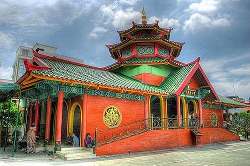 Mudik2017 Masjid Cheng Ho Jejak Thionghoa Muslim Surabaya Merah Kuning