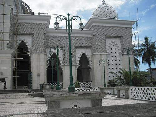 Masjid Raya Makassar Bumi Nusantara Sebuah Terletak Indonesia Dibangun 1948