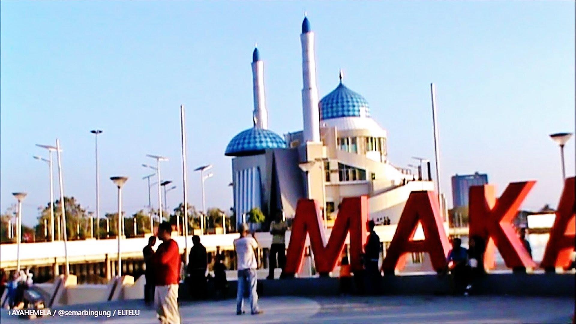 Masjid Terapung Amirul Mukminin Makassar Sulawesi Selatan Youtube Raya Kota