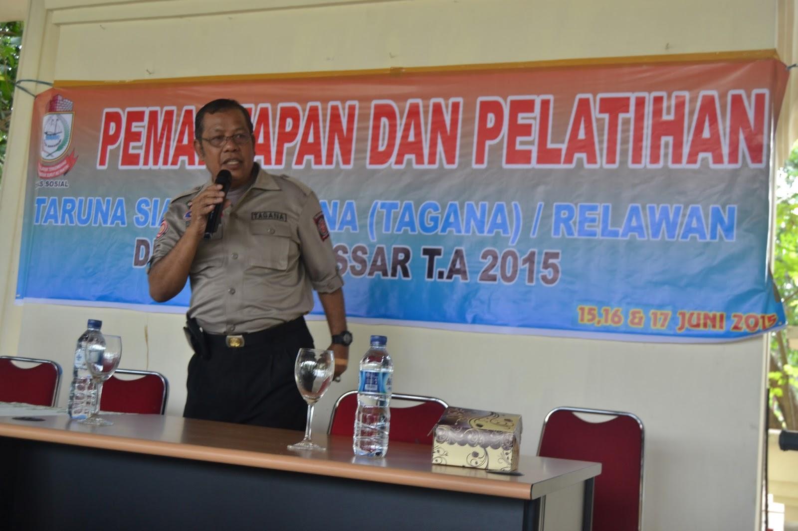 Dinas Sosial Kota Makassar Pemantapan Pelatihan Tagana Mengadakan Pemantapandan Taruna