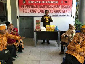 Dinsos Serahkan Bantuan Keluarga Korban 40 000 Jiwa Simponi Pemberian