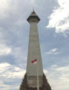 Menara Tinggi Terkenal Indonesia Segiempat Monumen Mandala Pembebasan Irian Barat