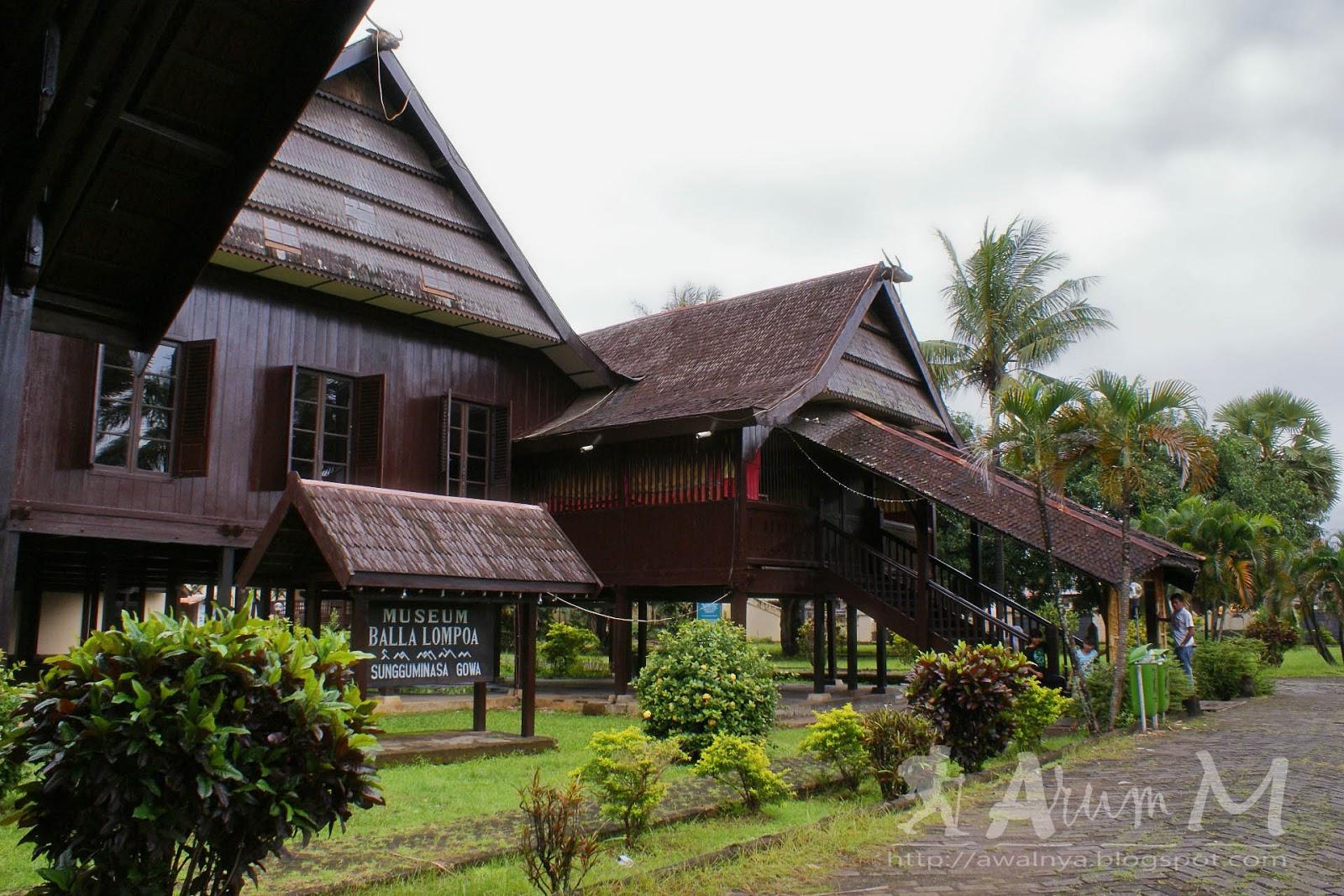 Indonesia Sungguh Indah Rumah Besar Balla Lompoa Museum Kota Makassar
