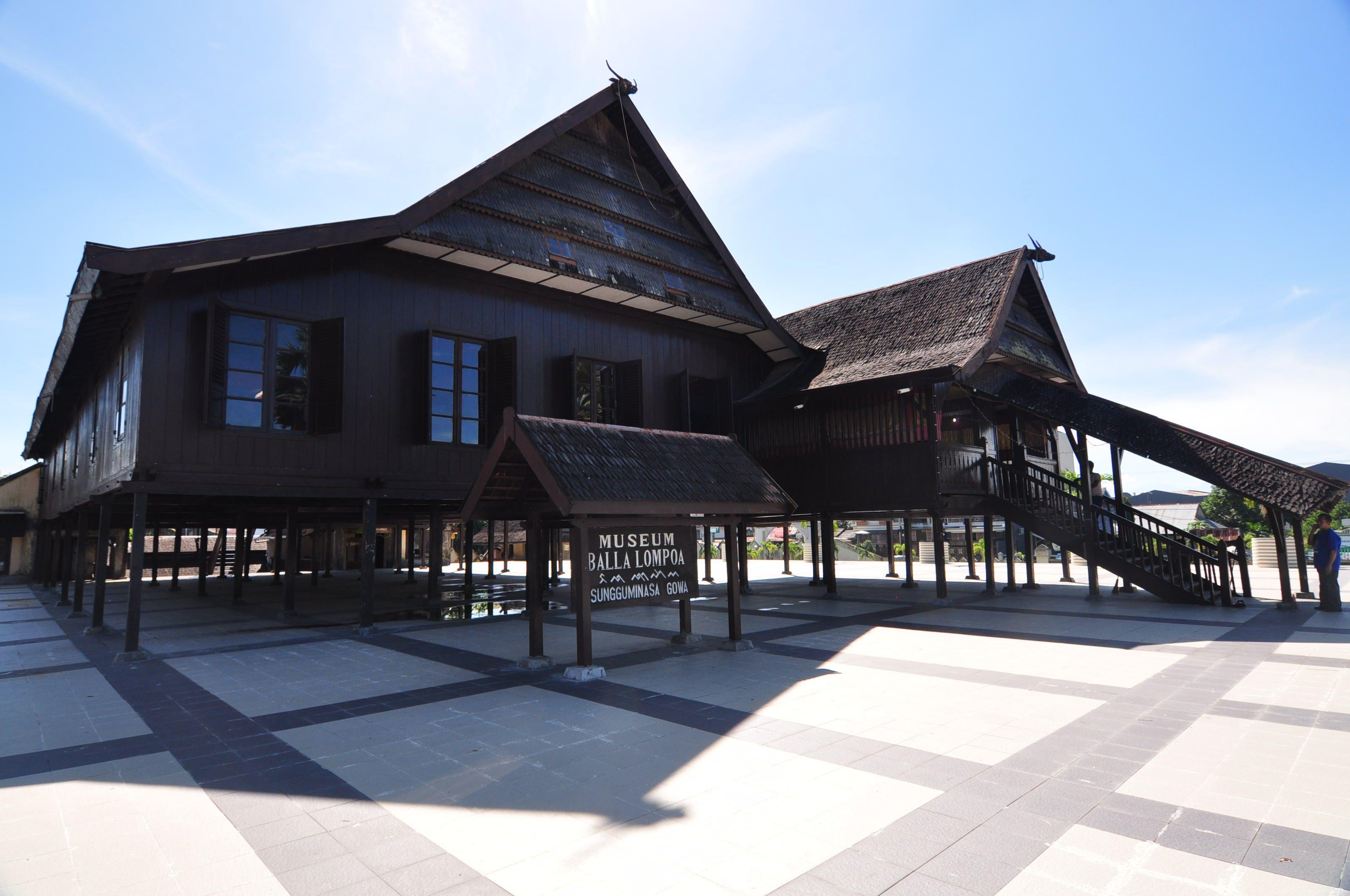 Kunjungi Museum Balla Lompoa Gowa Sulawesi Selatan Rekonstruksi Istana Raja
