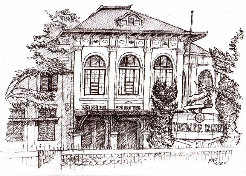 Makassar Visual Arts Achmad Fauzi Sketch Drawing Museum Kota