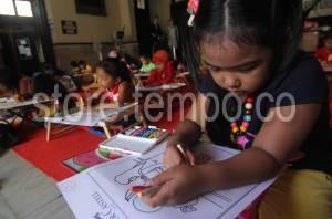 Melukis Mewarnai Museum Kota Makassar Lomba