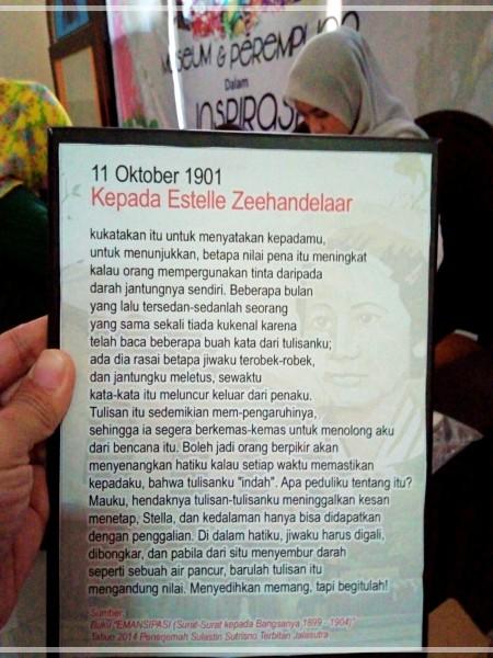 Surat Kartini Museum Kota Makassar Mugniar Note Tiba Lokasi Lantai