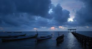 Wisata Marusu Maros Sulawesi Petang Hari Pengunjung Pula Menikmati Peristiwa