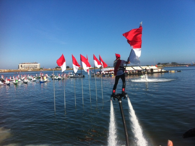 Makassar Kibarkan Merah Putih Pantai Losari Berita Sulsel Upacara Pengibaran