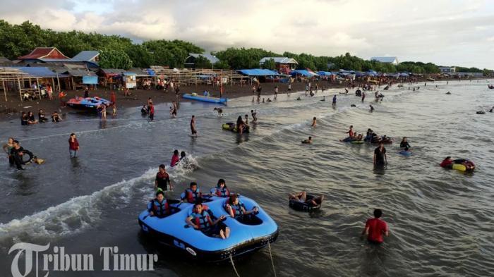 Foto Drone Wow Ramainya Tanjung Bayang Jelang Ramadan 2016 Wisata