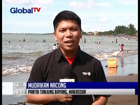 Live Report Suasana Liburan Pantai Tanjung Bayang Makassar Bis 27
