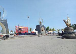 Piala Adipura Rakyatku Suasana Persiapan Penyambutan Pantai Losari Tugu Anjungan