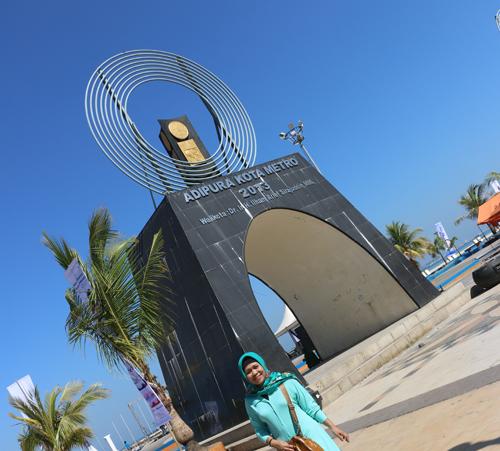Satu Tugu Adipura Dibangun Losari Anjungan Pantai Kota Makassar