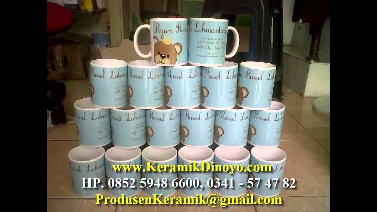 Pengrajin Mug Keramik Souvenir Hp 0852 5948 6600 Www Keramikdinoyo