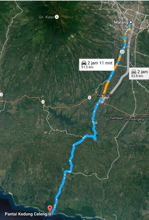 Facebook Arah Malang Menuju Pantai Kedung Celeng Www Google Map