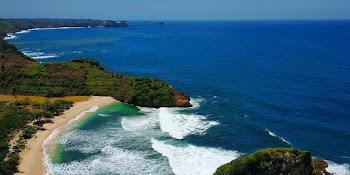 Lokasi Rute Pantai Kedung Celeng Malang Bisa Snorkeling Lho Tiket