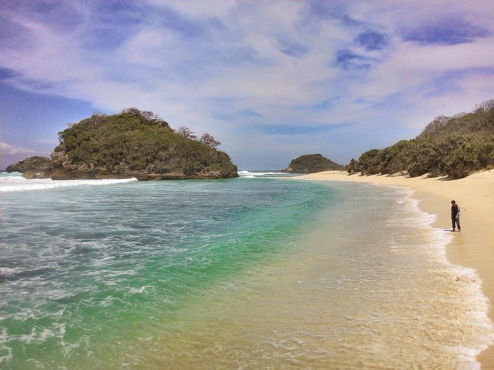 Pantai Kedung Celeng Pulodoro Malang Selatan Berlanjut Berada Sebelah Barat
