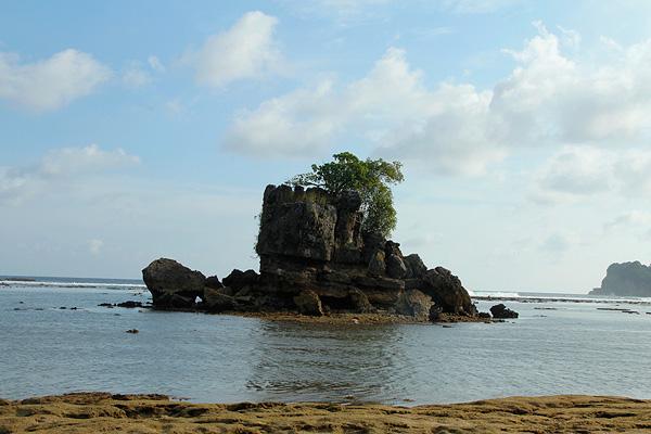 Kondang Merak Pantai Permai Malang Indonesiakaya Batu Karang Kokoh Menjadi