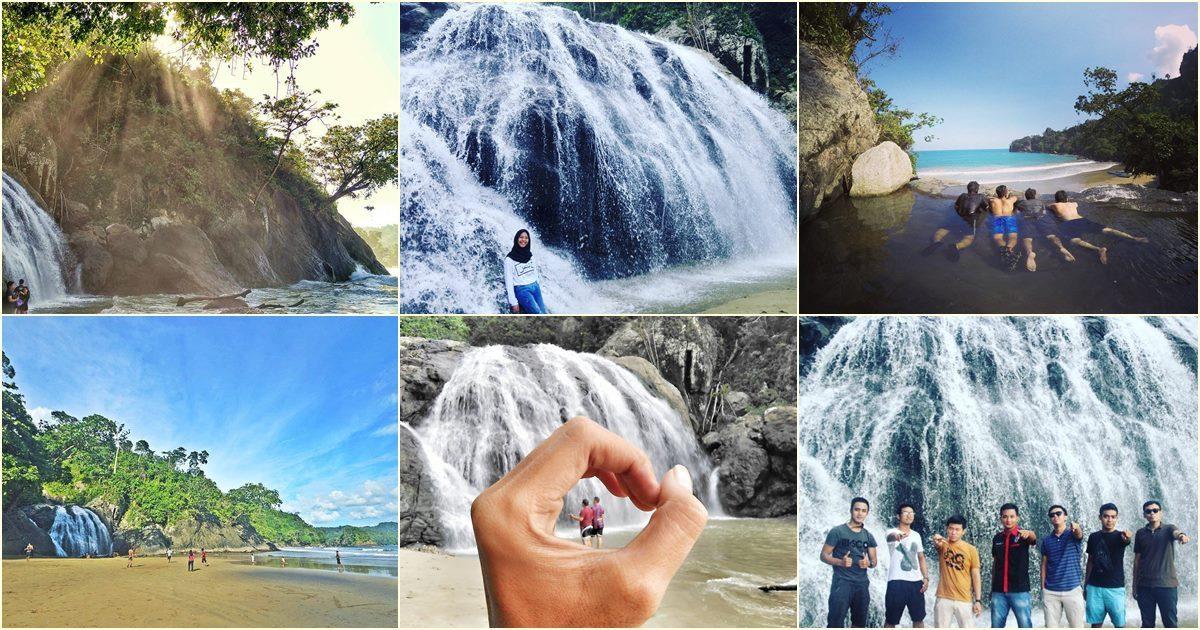 Pantai Air Terjun Banyu Anjlok Malang Unik Liburmulu Lenggoksono Coban
