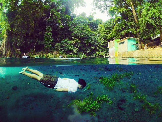 Jernih Mata Air Sumber Sirah Spot Snorkling Tawar Malang Kota