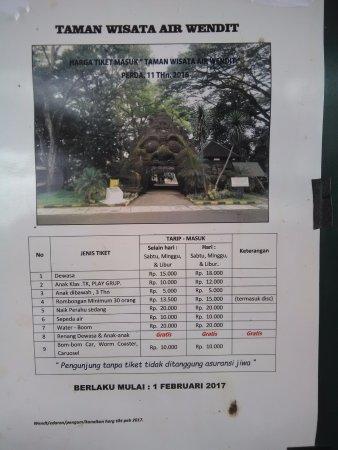 List Harga Masuk Wendit Picture Recreational Park Taman Air Kota