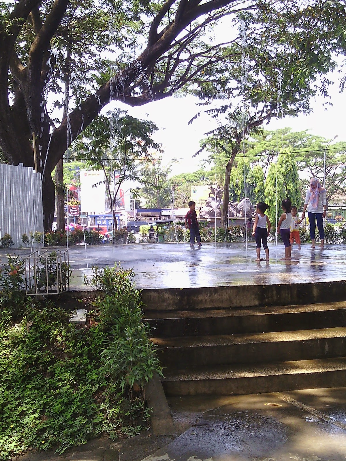Arsitektur Landscape Taman Bentoel Trunojoyo Kota Malang Tempat Tandon Air