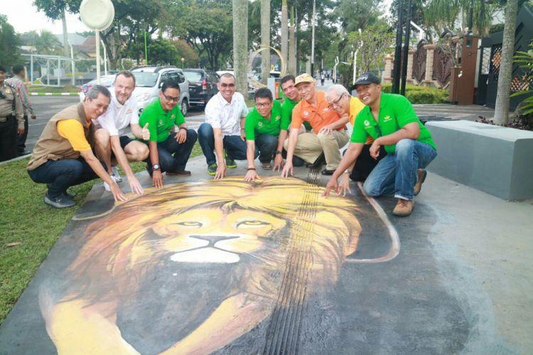 Malang Merdeka Kota Makin Lengkap Taman Peresmian Pedestrian Dieng 2017
