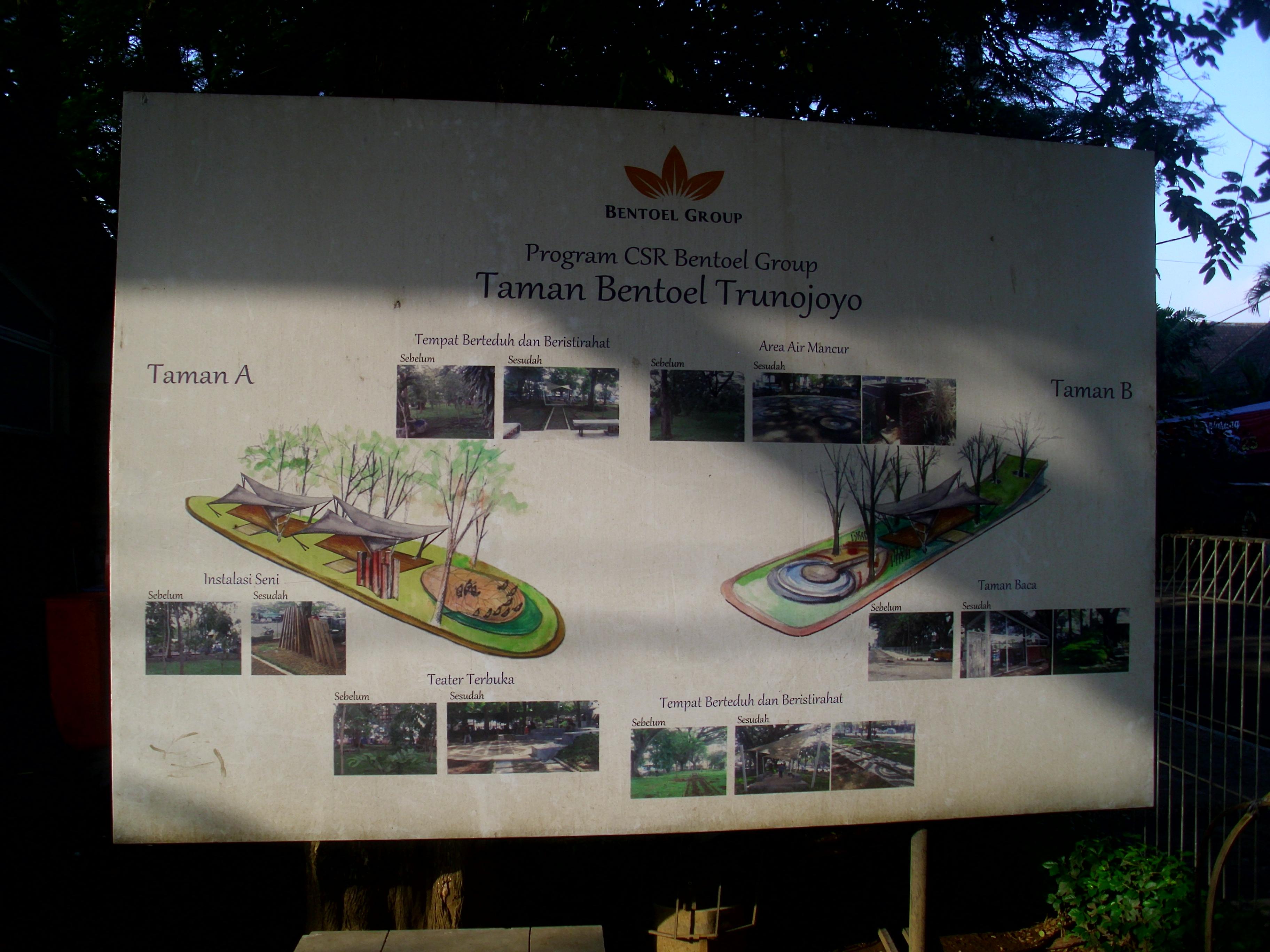 Taman Cerdas Bentoel Trunojoyo Malang Indah Sagst Denah Kota