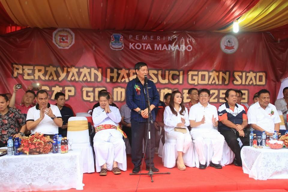 Perayaan Cap Meh Manado 2018 Walikota Janjikan Bangun Tribun Kampung