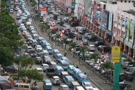 Manado Kota Macet Cybersulutnews Id Kemacetan Kawasan Boulevard Foto Ist