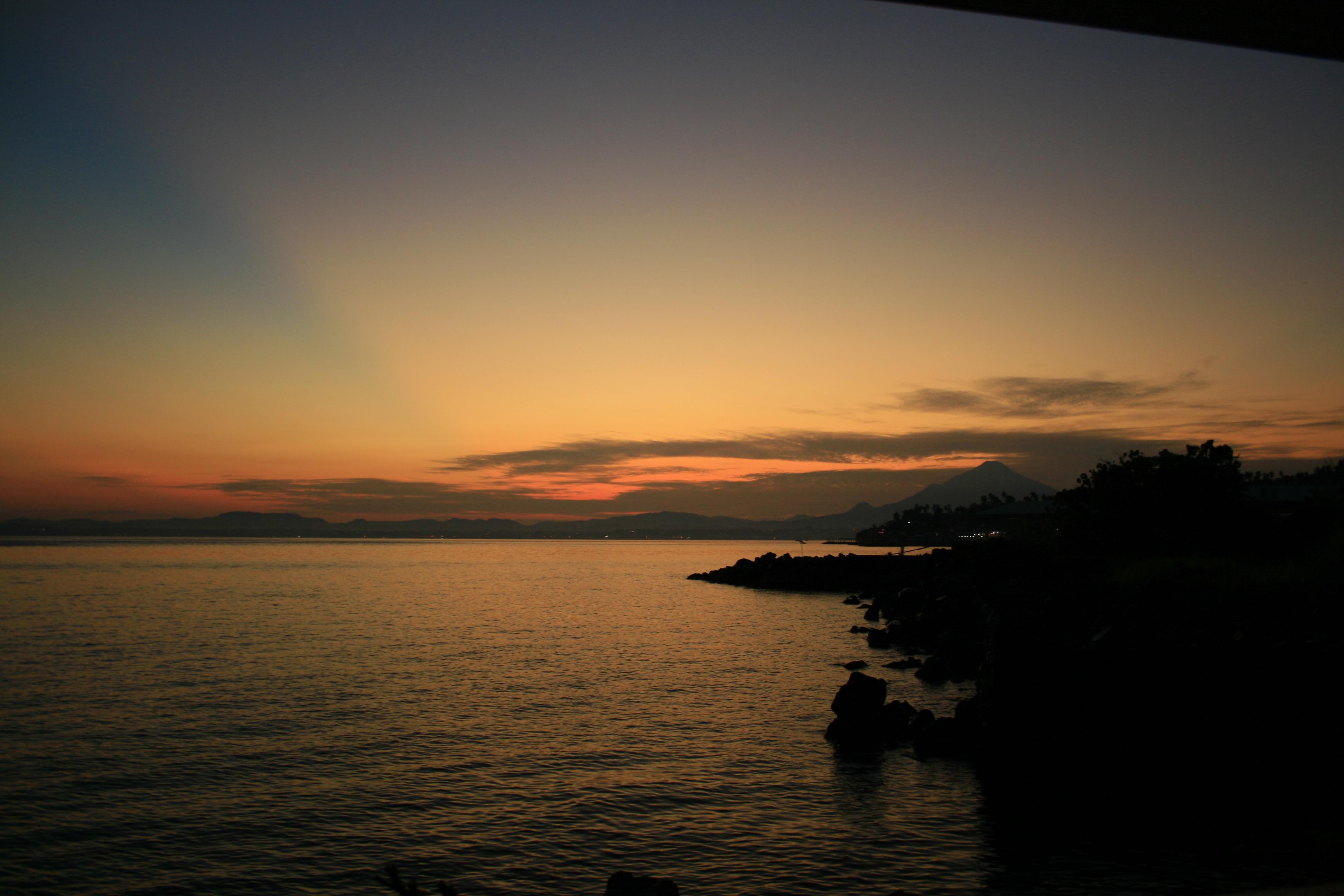 Pantai Malalayang Kota Manado Nyaman Damai Sunset Terletak Ujung Selatan