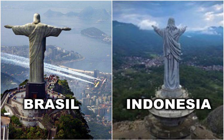 4 Patung Yesus Tertinggi Unik Indonesia Bagitu Memberkati Kota Manado