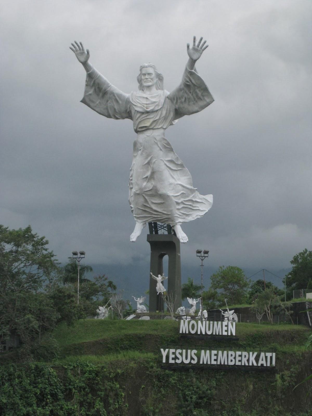 Jalan Indonesia Luar Negeri Yesus Memberkati Sebuah Monumen Kristus Terletak