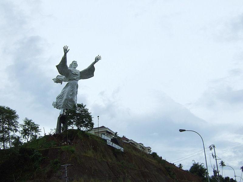 Murid Setia Yesus Patung Memberkati Manado Indonesia Sebuah Monumen Kristus