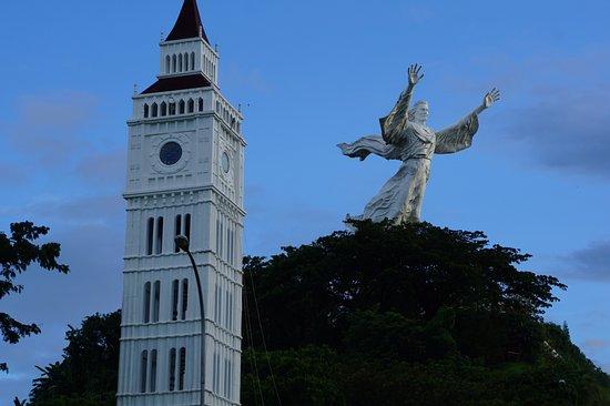 Patung Yesus Memberkati Kota Manado Sulawesi Utara Sulut Christ Blessing