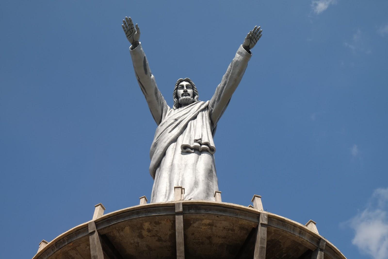 Patung Yesus Tertinggi Dunia Pindah Indonesia Ardiyanta Memberkati Kota Manado