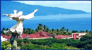 Yesus Memberkati Destinasi Sulut Patung Kota Manado
