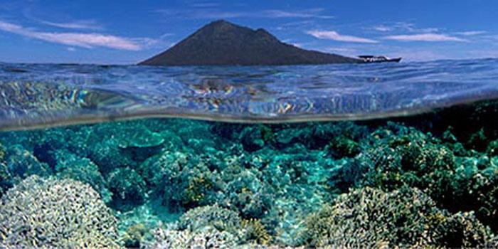 Keindahan Taman Laut Nasional Bunaken Celebes Pulau Siladen Kota Manado