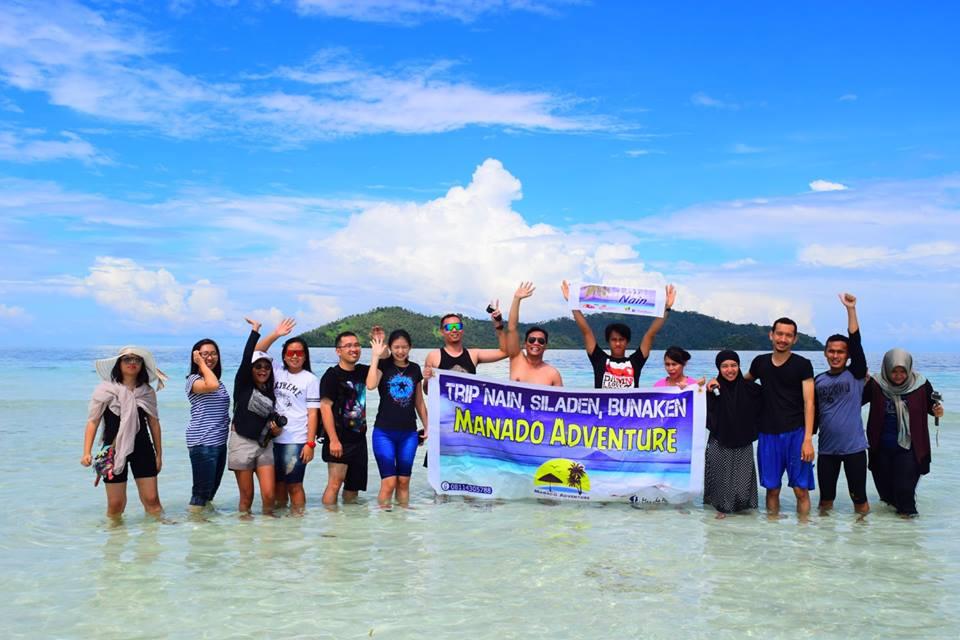 Tiga Pulau Satu Hari Nain Siladen Bunaken Rombongan Kota Manado
