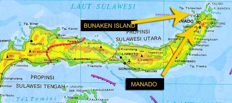 Dliem Blogspot Diamondliem Peta Pulau Bunaken Taman Laut Kota Manado