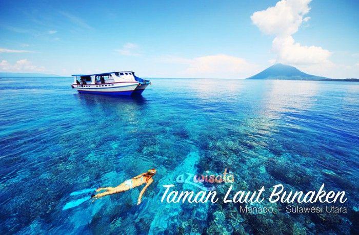 Taman Laut Bunaken Sulawesi Utara Tempat Wisata Pinterest Manadoindonesia Kota