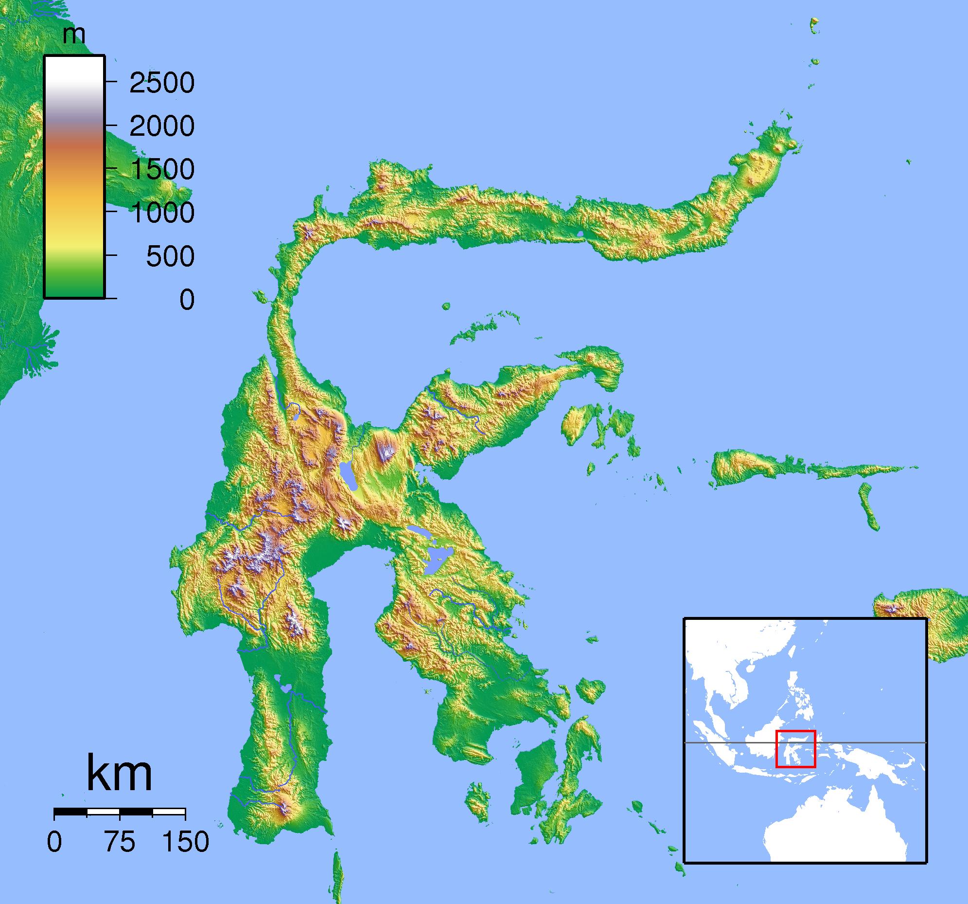 Taman Nasional Bunaken Wikipedia Bahasa Indonesia Ensiklopedia Bebas Peta Memperlihatkan